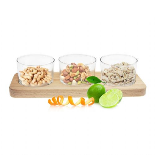 Trio Serving Dish Wood Collection